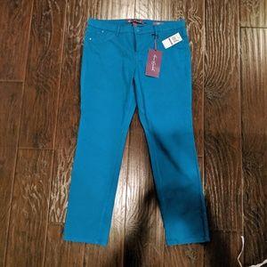 Gloria Vanderbilt blue ankle jeans 14 short NWT